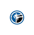 karate taekwondo fighter logo design vector image vector image