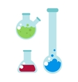 Lab flask vector image vector image