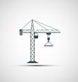 logo construction crane vector image vector image