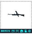 Machine gun icon flat vector image vector image