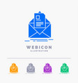 mail contract letter email briefing 5 color glyph vector image