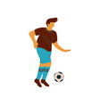 man playing with ball male character in sports vector image vector image