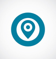 map pin icon bold blue circle border vector image vector image
