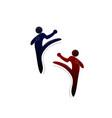 martial arts gestures vector image