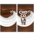 milk splash with dark chocolate vector image vector image