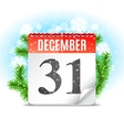 New Year Day Calendar vector image vector image