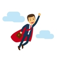 Office super business man flying icon vector image