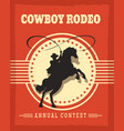 old west cowboys rodeo retro poster vector image vector image