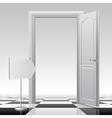 Open door with a sign vector image