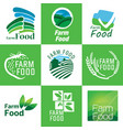 organic food set vector image