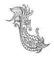 paisley hand drawn boho ornament vector image vector image