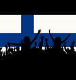 people silhouettes celebrating finland national vector image vector image