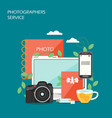 photographers service flat style design vector image