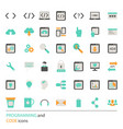 programming icon set programming icon set vector image