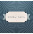Ramadan Kareem textile Card with greeting Ribbon vector image