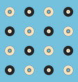 records and cds seamless pattern vector image