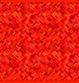 red geometric diagonal rectangle mosaic pattern vector image vector image