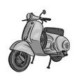 Retro gray scooter sketch doodle