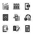 safe money banking icon set simple style vector image