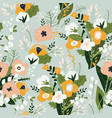 seamless pattern spring bouquets flowers vector image vector image