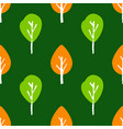 seamless plant pattern with hand draw tree vector image