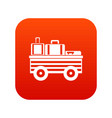 service cart with luggage icon digital red vector image vector image