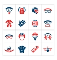 Set color icons of parachute vector image