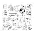 set education and science vector image