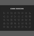set line icons genome engineering vector image