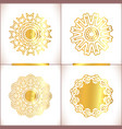 set of gold mandalas vector image vector image