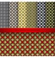 set Vintage retro seamless patterns vector image vector image