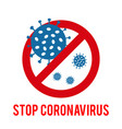 sign caution coronavirus stop coronavirus icon vector image