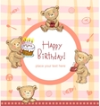Sweet Birthday greetings vector image vector image