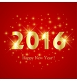 Text design Happy New Year 2016 on the red vector image