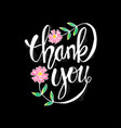 thank you hand lettering calligraphy vector image vector image