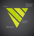 Triangle template consists of four green parts on vector image vector image
