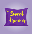 violet pillow of sweet dreams vector image