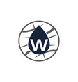 water oil world letter w vector image