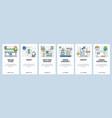 web site onboarding screens online store cash vector image vector image