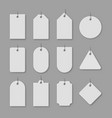 white cardboard price tags with shadow vector image vector image