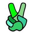 winner hand symbol vector image