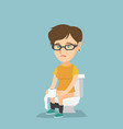 woman suffering from diarrhea or constipation vector image vector image