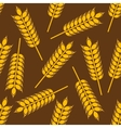 Yellow wheat ears seamless pattern vector image vector image