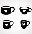 coffee glass vector image