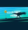 dinosaurs do not exist - cartoon vector image
