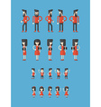 Set of Flat Style Cartoon Characters Father vector image