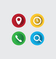 3d icon website vector image