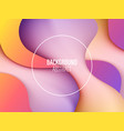 abstract background with liquid shape cover or vector image vector image