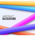 Abstract rainbow banner form background concept vector image vector image