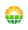 bio ecology sun solar technology logo vector image vector image